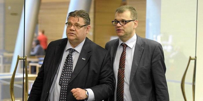 Pääministeri Sipilä ja ulkoministeri Soini. (lähde)